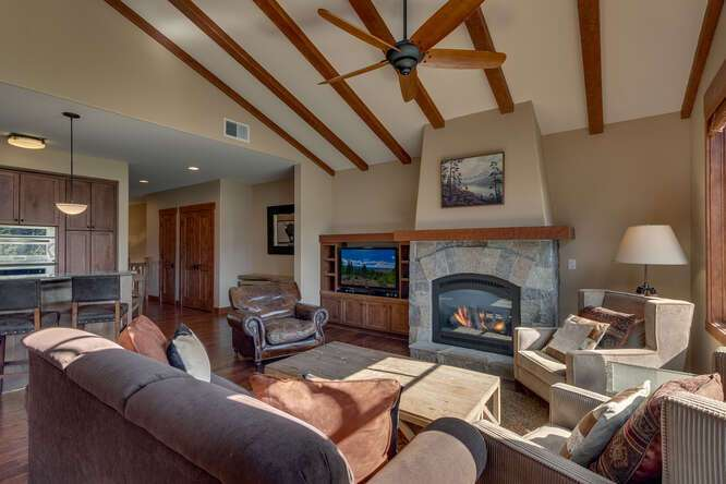 Gorgeous living room | Grays Crossing Luxury Townhome