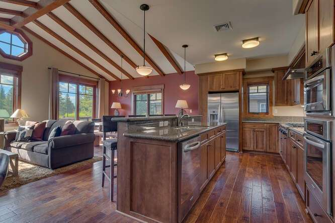 Stunning living area and kitchen | Grays Crossing Luxury Townhome