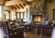Great Room Fireplace | Squaw Valley Luxury Home