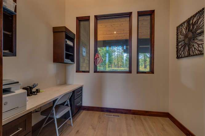 Truckee Golf Course Real Estate | 10911 Ghirard Court | Custom Office