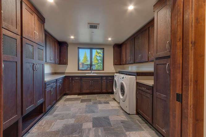 Tahoe Golf Course Real Estate | 10911 Ghirard Court | Laundry Room