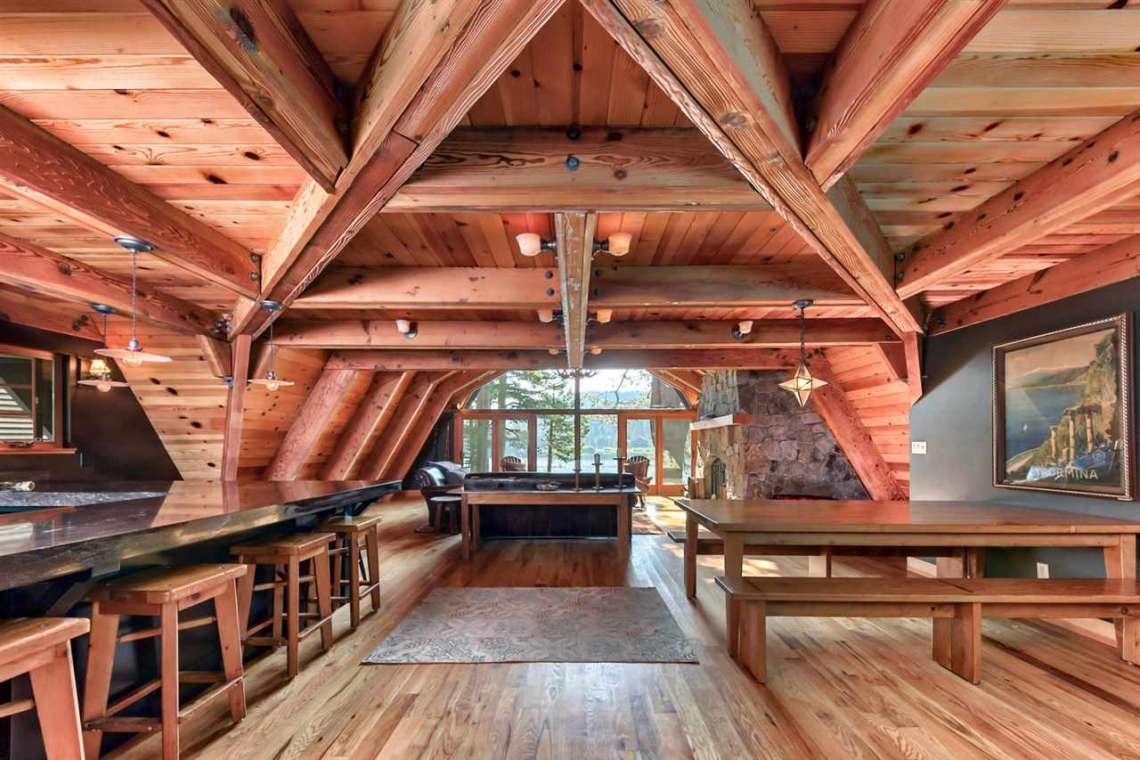 Soda Springs Real Estate | 1102 Island Way Soda Springs CA | Inside of Cabin
