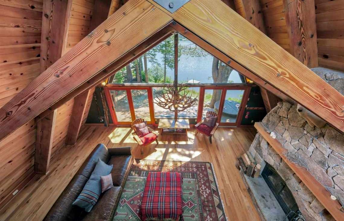 Serene Lakes Cabin  | 1102 Island Way Soda Springs CA | View of Downstairs