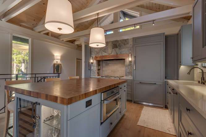 Gorgeous kitchen with thermador refrigerator | North Lake Tahoe Real Estate