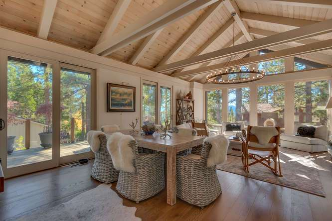 Light and bright dining room | Lake Tahoe Home For Sale