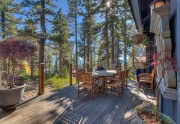 Exquisite outdoor entertaining area | Lake Tahoe Real Estate