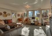 Lower level family room with walk off to brick patio | Lake Tahoe Luxury Real Estate