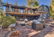 Outdoor brick patio and hot tub   Lake Tahoe Real Estate