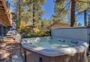 Outdoor brick patio and hot tub   North Lake Tahoe Real Estate