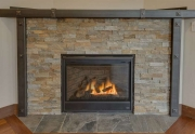 Custom Fireplace with Ledge Stone Surround