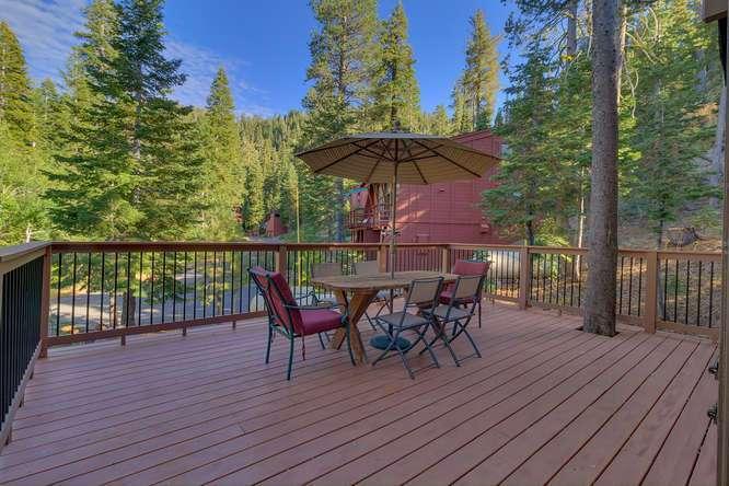 Lake Tahoe Ski Cabin | 1177 Snow Crest Rd Alpine Meadows | Patio