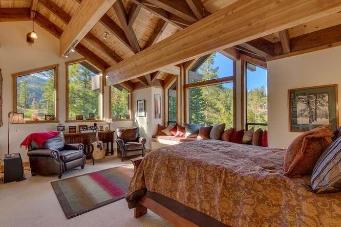 Lake Tahoe Real Estate | 1177 Snow Crest Rd Alpine Meadows | Master Bedroom Ensuite
