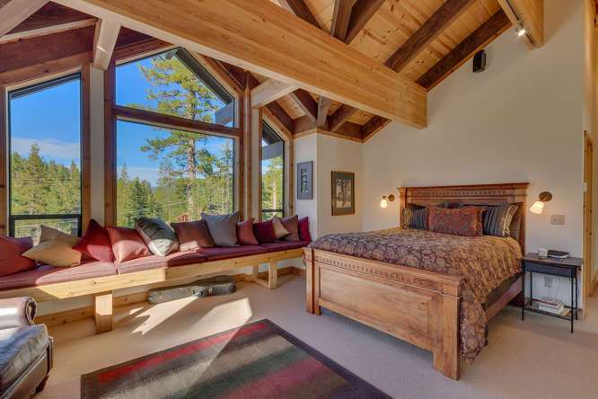 Lake Tahoe Ski Real Estate | 1177 Snow Crest Rd Alpine Meadows | Master Bedroom Ensuite