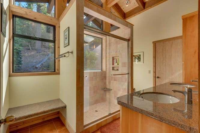 Lake Tahoe Luxury Real Estate | 1177 Snow Crest Rd Alpine Meadows | Master Bathroom