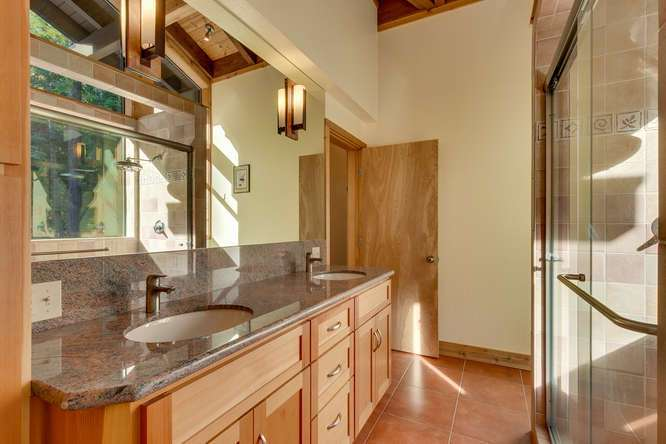 Luxury Tahoe Real Estate | 1177 Snow Crest Rd Alpine Meadows | Master Bathroom