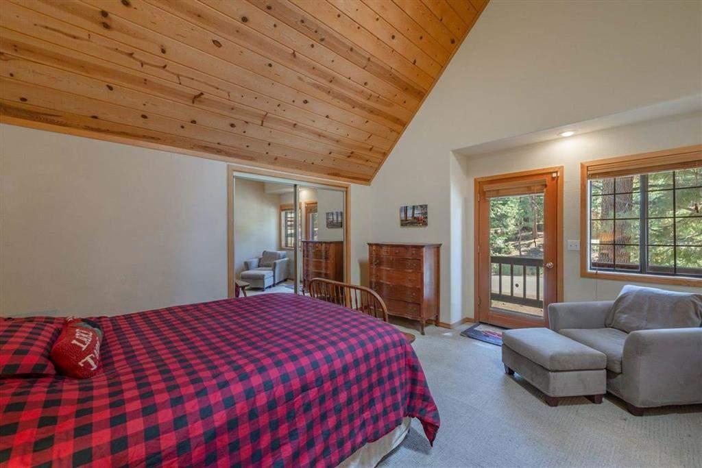 Primary bedroom   Tahoe Donner retreat