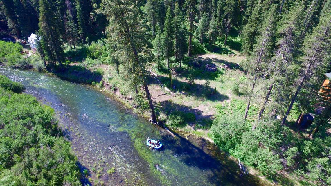 Sunny lot on the Truckee River