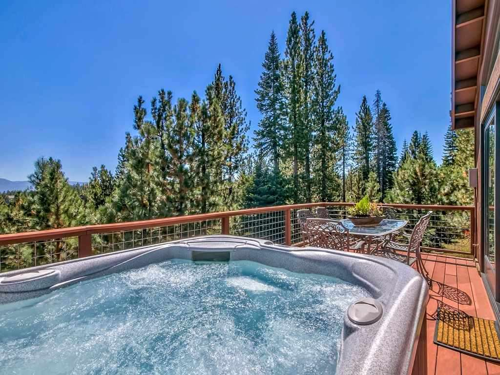 Hot tub with views of the Carson Range | Truckee Real Estate