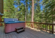 Spacious deck facing greenbelt | Tahoe Vista home for sale