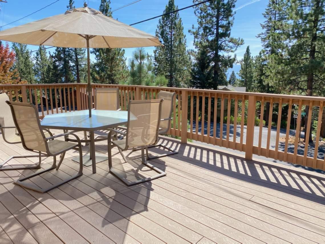 Sunny deck   132 Mammoth Drive