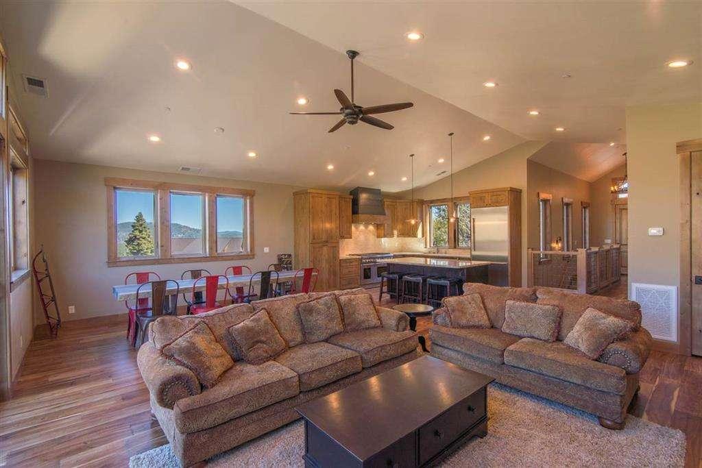 Spacious and Airy Living Room | Lake Tahoe Ski Home