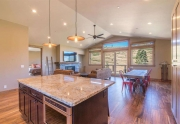 Open Concept Kitchen and Living Area | Lake Tahoe Ski Home
