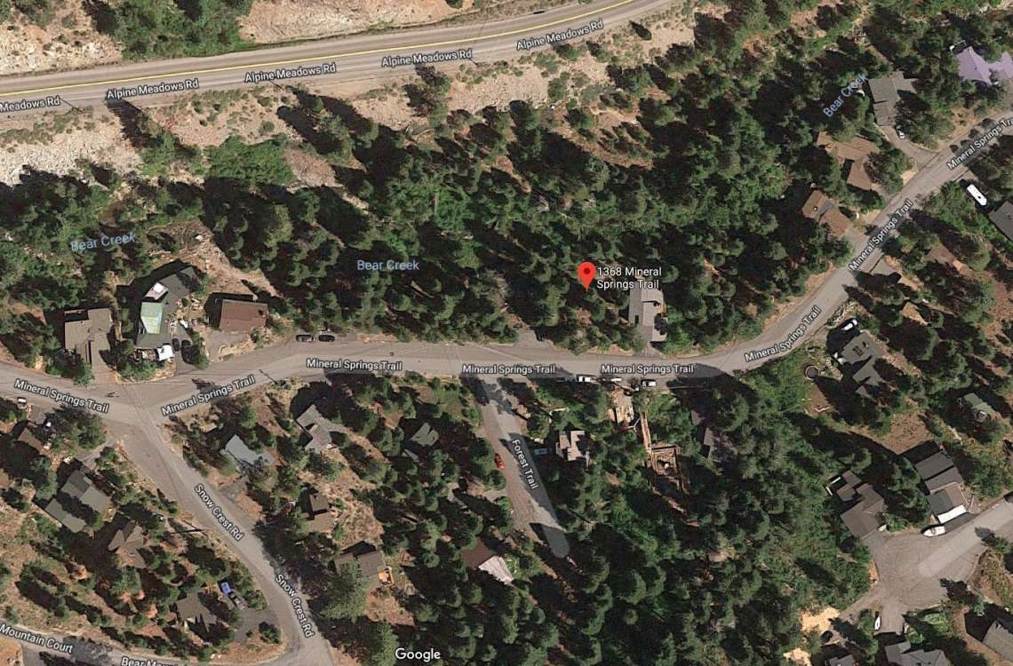 Google Satellite Image - 1368 Mineral Spring Trail - Land for Sale