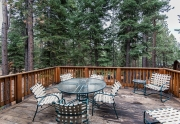 200 Hastings Lane | Lake Tahoe Mountain Home | Spacious Back Deck with Wooded Views