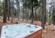 200 Hastings Lane | Kings Beach Real Estate | Relaxing Hot Tub with Wooded Views