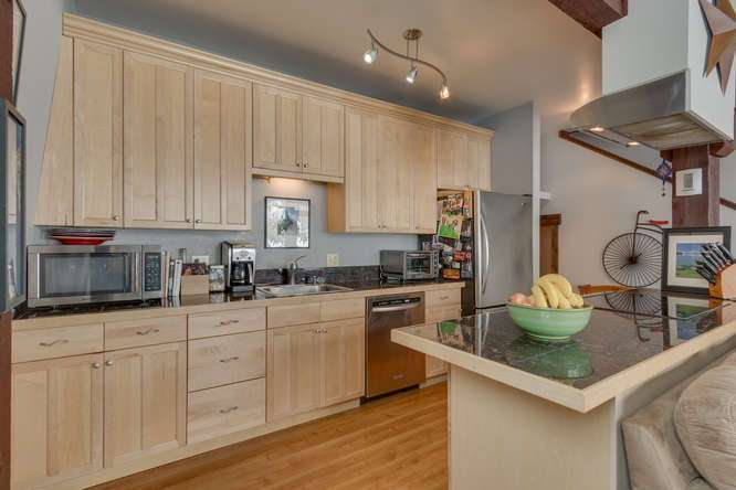 Remodeled Kitchen with New Appliances in Alpine Meadows Townhouse For Sale