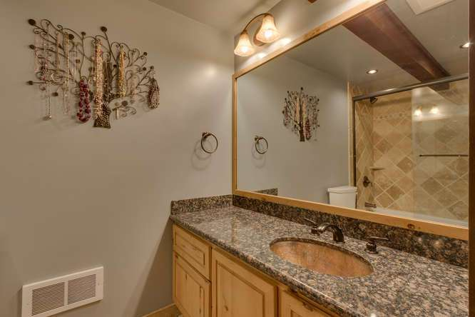 Beautifully Remodeled Master Bathroom in Tahoe City Condo For Sale
