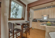 Dining Table and Added Skylight in Remodeled Alpine Meadows Townhouse For Sale