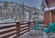 Front Deck Featuring Majestic Views of Thunder Ridge | Alpine Meadows Real Estate