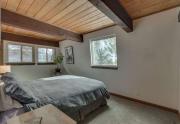 Spacious Master Bedroom featuring bonus Skylight in Lake Tahoe Condo For Sale