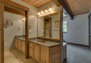 Master Bathroom with Dual Sinks in Remodeled Alpine Meadows Townhouse For Sale