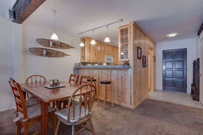 Lake Tahoe Condo | 2201 Scott Peak Pl 38 | Kitchen Dining Room