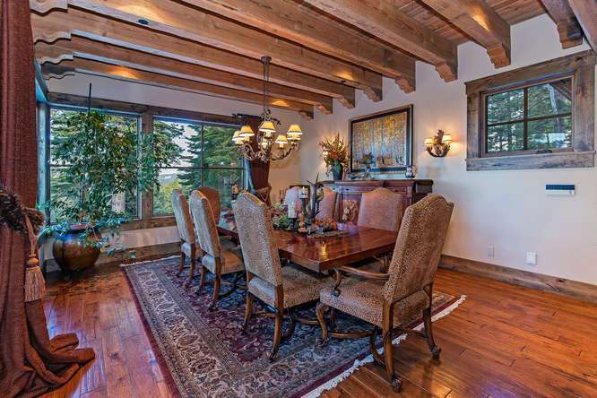 Spacious and Scenic Dining Area | Lake Tahoe Luxury Real Estate
