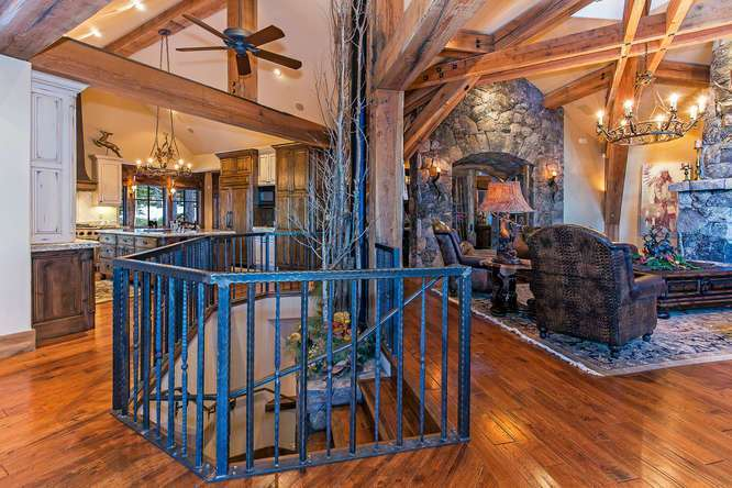Dramatic Steel Staircase | Lake Tahoe Real Estate