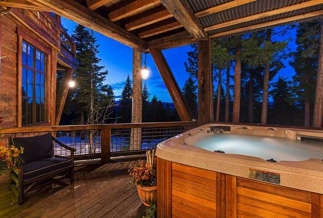 Hot Tub featuring beautiful views | Real Estate Truckee CA