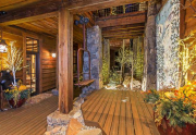 Gorgeous Outdoor Sitting Area in between House and Saloon   Truckee Real Estate