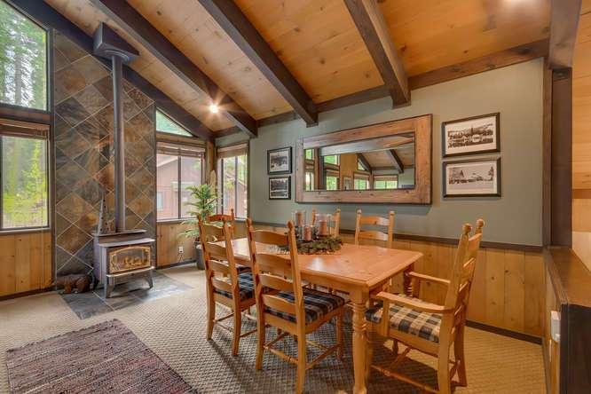 Tahoe Real Estate | 2565 Cedar Ln Homewood CA | Dining Room