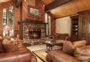 Old Tahoe Living Room | 3012 Highlands Drive