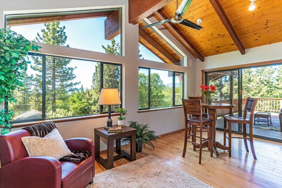 Tahoe City  Real Estate | 3145 Meadowbrook Dr | View through windows