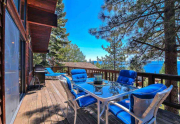 Luxury Tahoe Real Estate | 3324 Dardanelles Ave | Deck with Lake Tahoe View