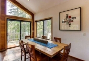 Tahoe City home dining room