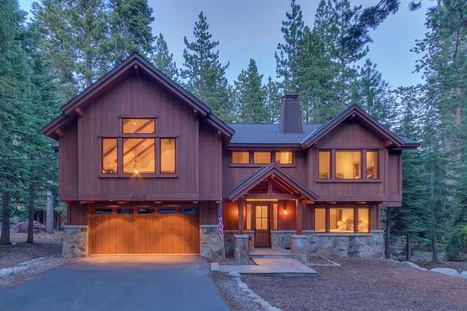 Lake Tahoe Luxury Home For Sale | 4516 Muletail Dr Carnelian Bay-Front Exterior Dusk