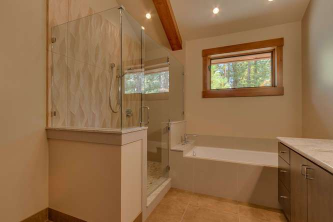 North Shore Lake Tahoe Home | 4516 Muletail Dr Carnelian Bay-Master Bath