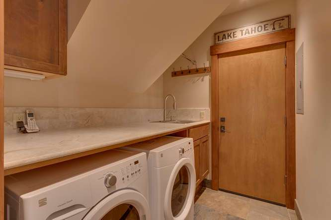Lake Tahoe Luxury Home For Sale   4516 Muletail Dr Carnelian Bay-Laundry
