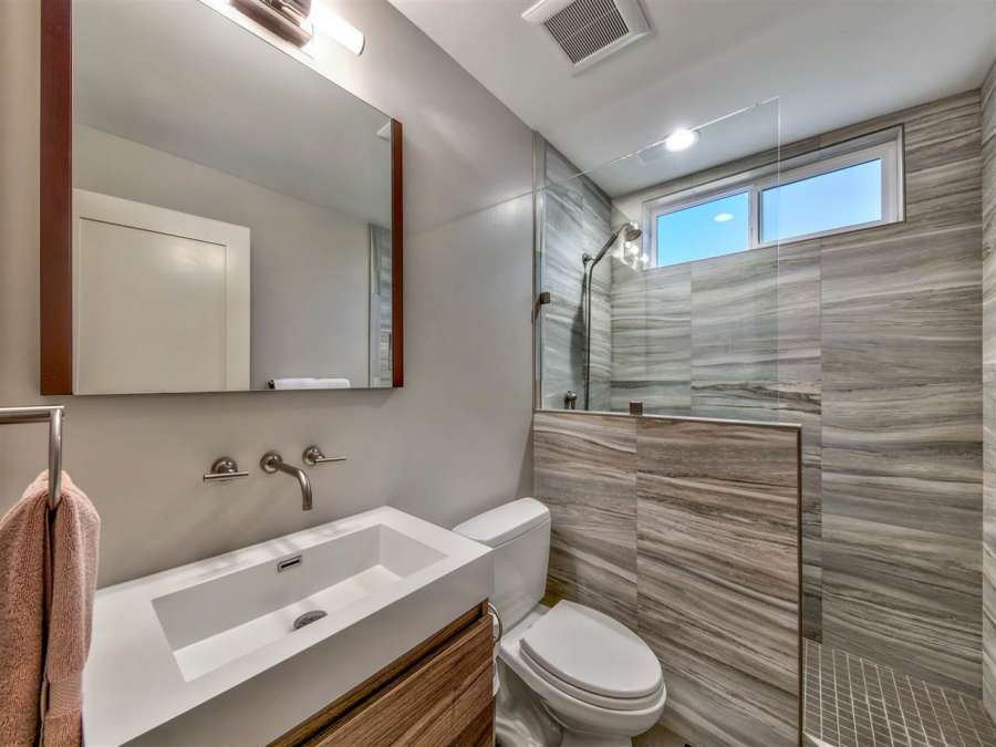 Remodeled Bathroom on the West Shore of Lake Tahoe