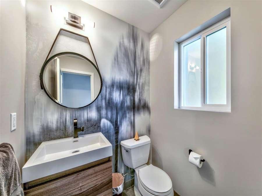 Designer Powder Bathroom | Homewood Real Estate